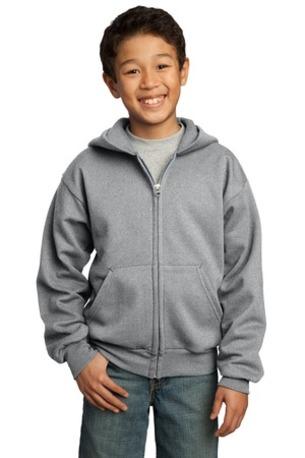Port & Company ®  - Youth Core Fleece Full-Zip Hooded Sweatshirt.  PC90YZH