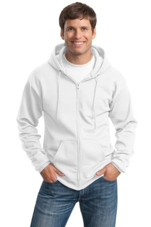 Port & Company ®  -  Essential Fleece Full-Zip Hooded Sweatshirt.  PC90ZH