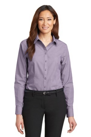 DISCONTINUED  Red House ®  - Ladies Mini-Check Non-Iron Button-Down Shirt. RH67