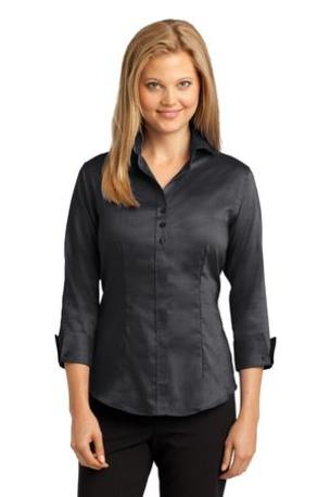 Red House ®  Ladies 3/4-Sleeve Nailhead Non-Iron Shirt. RH69