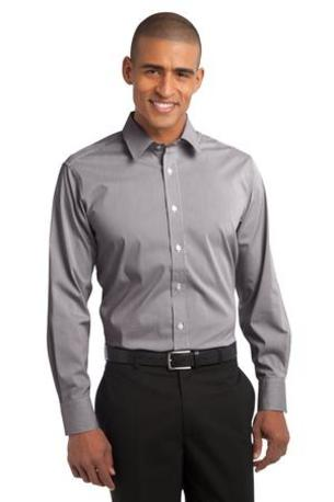 Port Authority ®  Fine Stripe Stretch Poplin Shirt. S647