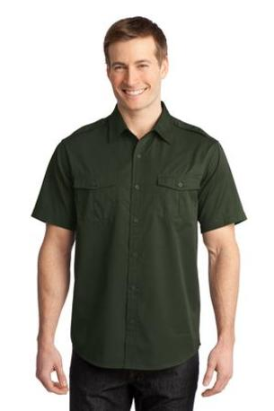 Port Authority ®  Stain-Resistant Short Sleeve Twill Shirt. S648