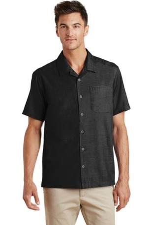 Port Authority ®  Textured Camp Shirt. S662