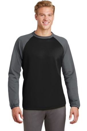 Sport-Tek ®  Sport-Wick ®  Raglan Colorblock Fleece Crewneck. ST242