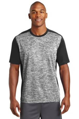 Sport-Tek ®  PosiCharge ®  Electric Heather Colorblock Tee. ST395