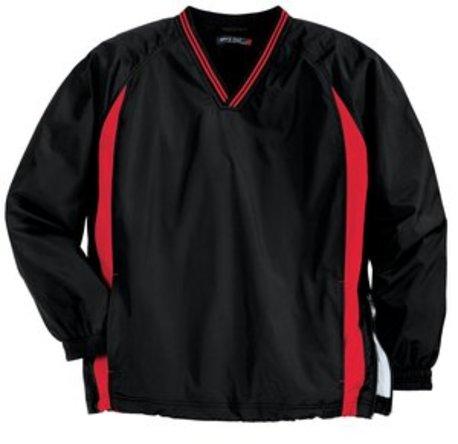 Sport-Tek ®  Tall Tipped V-Neck Raglan Wind Shirt. TJST62