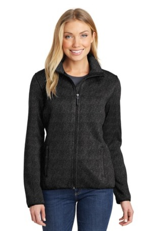 Port Authority ®  Ladies Sweater Fleece Jacket. L232