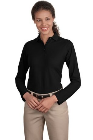 Port Authority ®  Ladies Long Sleeve Silk Touch- Polo.  L500LS