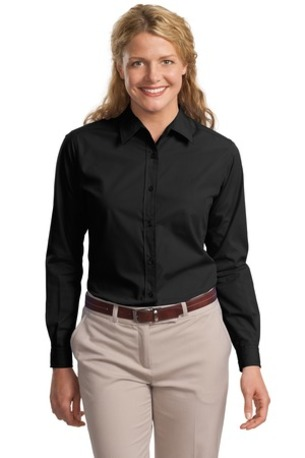 DISCONTINUED  Port Authority ®  Ladies Long Sleeve Easy Care, Soil Resistant Shirt.  L607