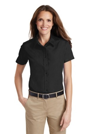 Port Authority ®  Ladies Short Sleeve Value Poplin Shirt. L633