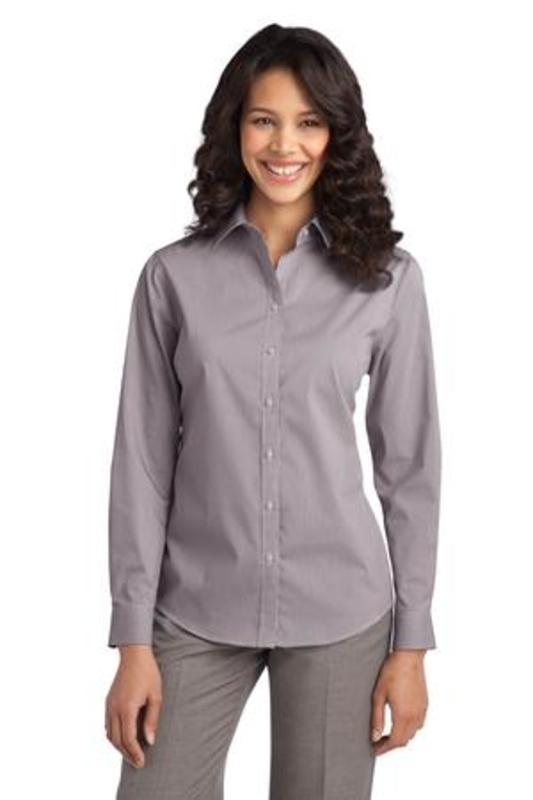 Port Authority ®  Ladies Fine Stripe Stretch Poplin Shirt. L647
