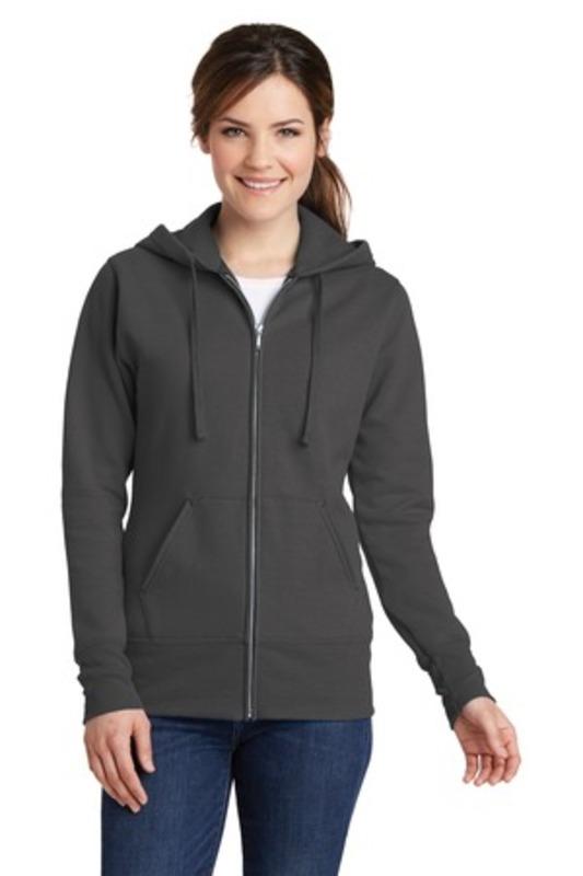 Port & Company ®  Ladies Core Fleece Full-Zip Hooded Sweatshirt. LPC78ZH