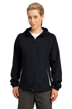 Sport-Tek ®  Ladies Colorblock Hooded Raglan Jacket. LST76