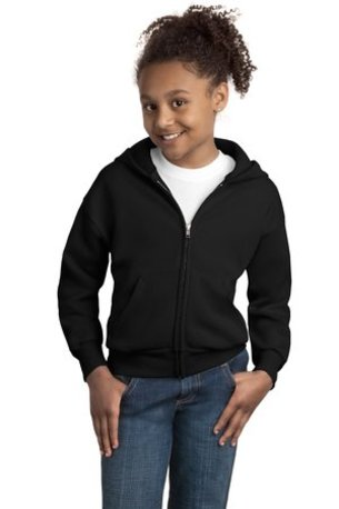 Hanes ®  - Youth EcoSmart ®  Full-Zip Hooded Sweatshirt. P480