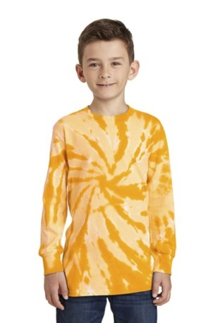 Port & Company ®  Youth Tie-Dye Long Sleeve Tee.  PC147YLS